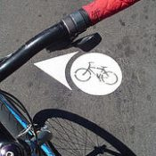 Photos of new bike blvd. markings