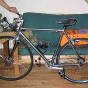 Stolen: Road bike with flat bars