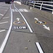 Hawthorne Bridge gets new markings