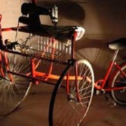Bike-powered sewing machine