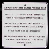 "Airport bike parking ""for employees only"""