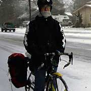 Snow doesn't deter local cyclists