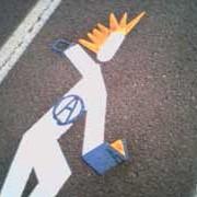 New bike lane stencil by Joe Biel