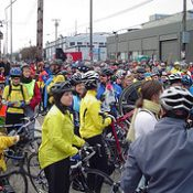 Huge crowds at Worst Day Ride