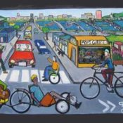 Preliminary Share the Road mural design unveiled