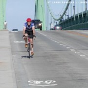 Sharrows on the St. Johns Bridge!