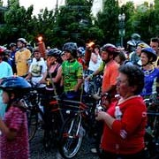 Night Riders enjoy fire, donuts, and disco