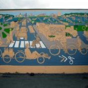 Work starts on Share the Road mural