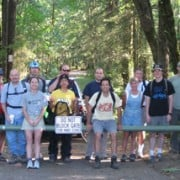 Mountain bikers finish new Forest Park trail