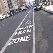 Update: Benson Hotel gets new bike lane markings