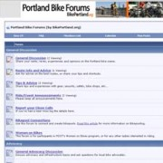 Checked the Portland Bike Forums lately?