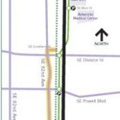 TriMet's shares light rail construction bike detours