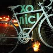Ghost bike installed for Nick