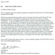PDOT issues statement on Ladds Circle engineering