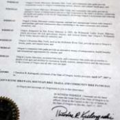 Kulongoski declares April 14th as State Bike Day