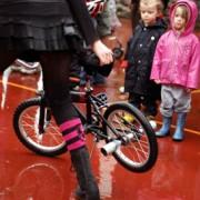 Despite rain, bikes and Sprockettes shine at Earth Day