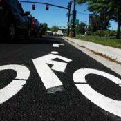 New bike lanes on Naito Parkway