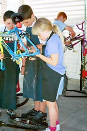 Summer bike camps get rolling at the CCC