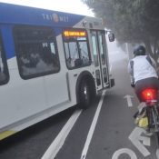 PBOT, Oregon State to partner on research into bus and bike lane conflicts