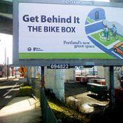 Bike box billboards, bus ads debut