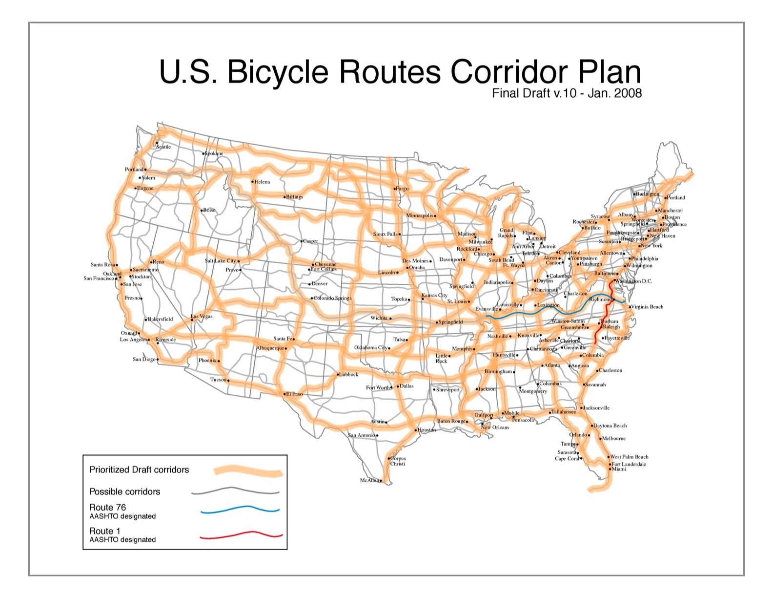 imagine a national bike route system - bikeportland