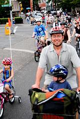 Kids take to downtown traffic on 'Kidical Mass' ride