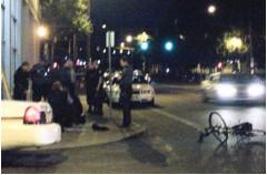 Man on a bike is tackled, then tasered by Portland Police