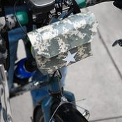 Another homegrown bike craft: Duct tape handlebar bags