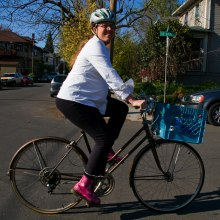 Biking with a bump (at 32 weeks)