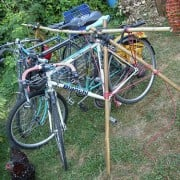 Reader photo of the week: DIY bamboo bike parking