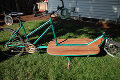 Tom LaBonty and his custom cargo bikes