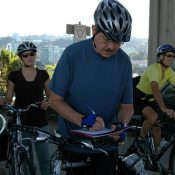Who was that guy with the clipboard? Bike count season is in full swing
