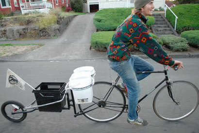 New Company Makes Bike Trailers Out Of Used Bike Parts