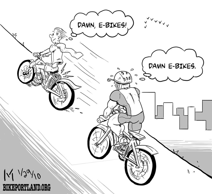 Friday Cartoon E Bikes Bikeportland Org