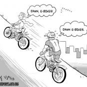 Friday Cartoon: E-bikes!