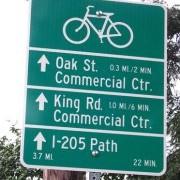 First look: Milwaukie's new bikeway signs