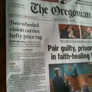 My opinion on The Oregonian's front page bike plan article