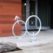 Businesses get into the art of bike racks