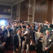 Ray LaHood rocks Summit crowd with tabletop speech