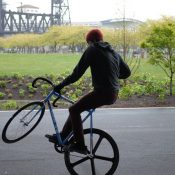 Fixed gear trick riding catches on in Portland