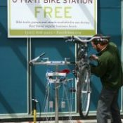 Kerr Bikes debuts a free, DIY fix-it station in Waterfront Park