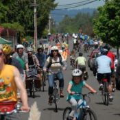 Families rule at first of five Sunday Parkways