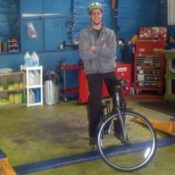 Car being serviced?  Local repair shop will loan you a bike