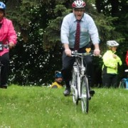 Mayor Adams park-bombs in support of Safe Routes program