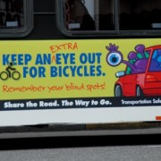ODOT bus ad: 'Keep an extra eye out for bicycles'