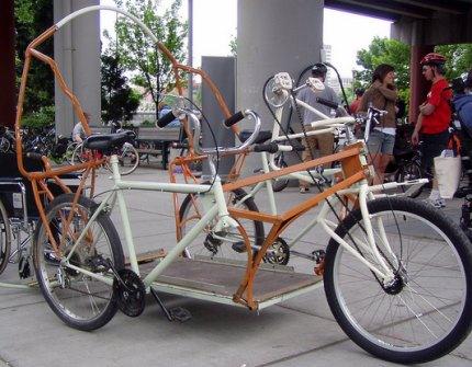 Three Person Bike Car Prototype Stolen Bikeportland Org