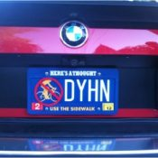 Photo: A 'Don't Share the Road' license plate