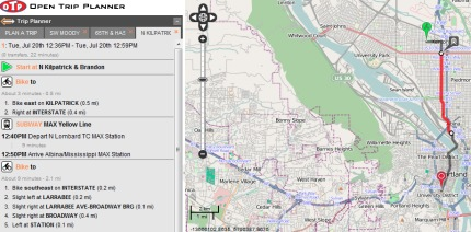 Screen grab of TriMet   s Open Trip Planner which could be ready for 75aBGmTz
