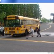 Girl recovering after school bus/bike crash in Beaverton