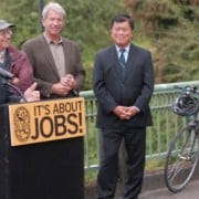 Electeds gather in Portland to push for federal transportation bill
